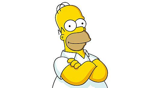 Homer Simpson, smiling politely.