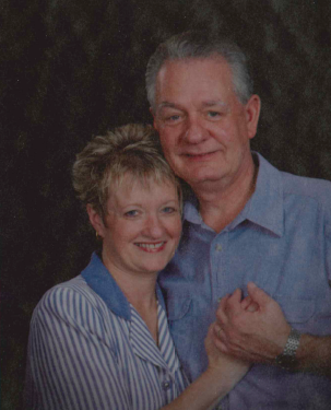 Mel (left) with husband, Darrel