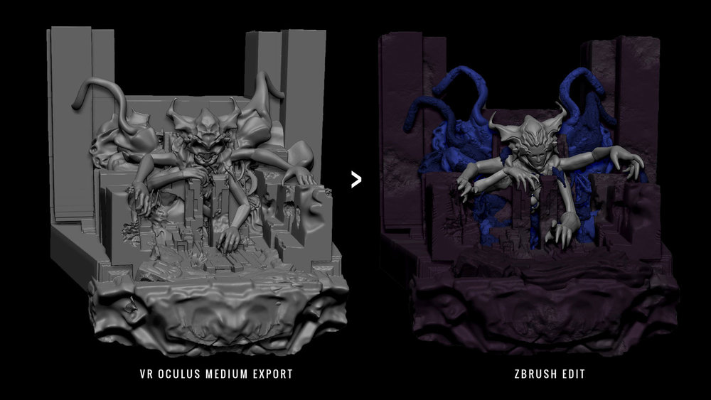Vr -> Zbrush workflow