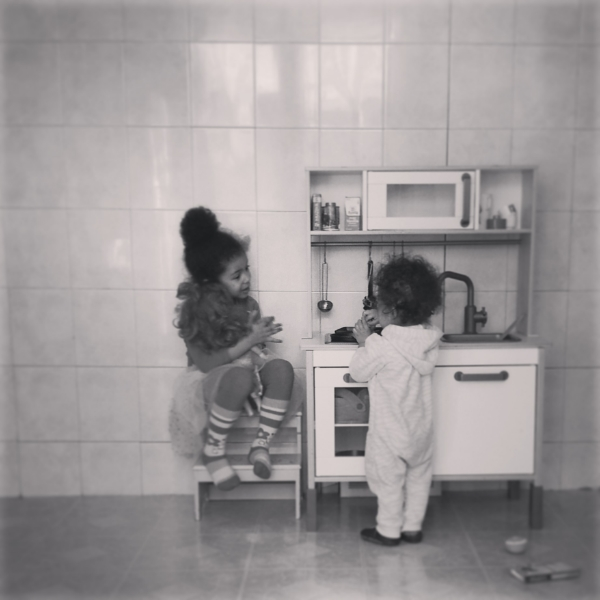 Kitchen talk.
