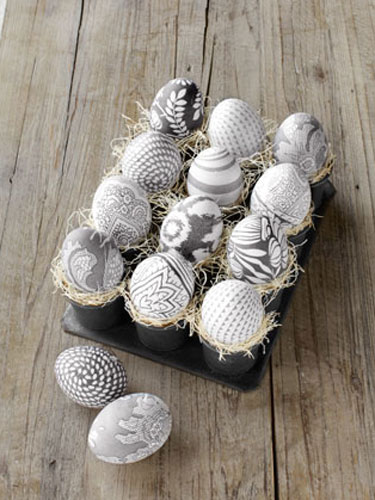 Silk Print Eggs