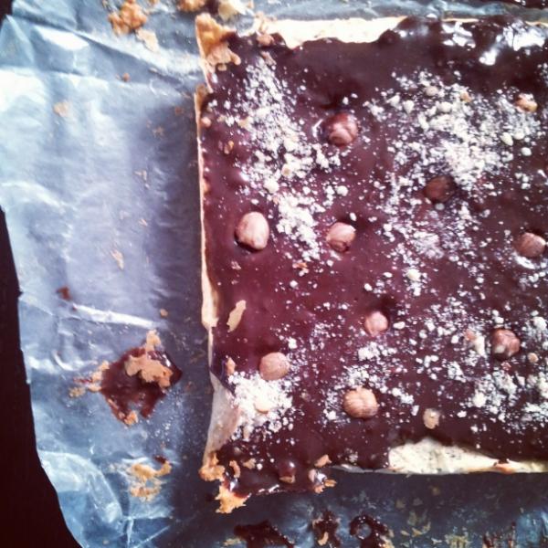 Mazurek with Hazelnuts and Milk Chocolate