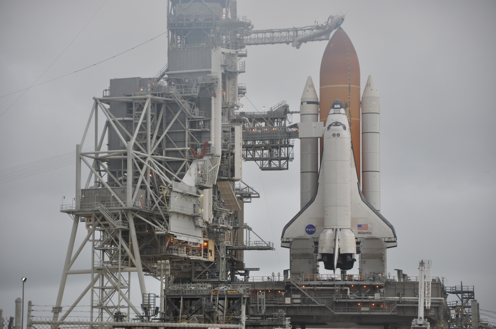 Atlantis as she stands at the pad for the final time. Credit: Sawyer Rosenstein