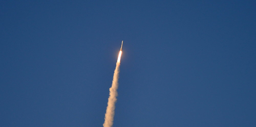 Single Booster Visible During Launch