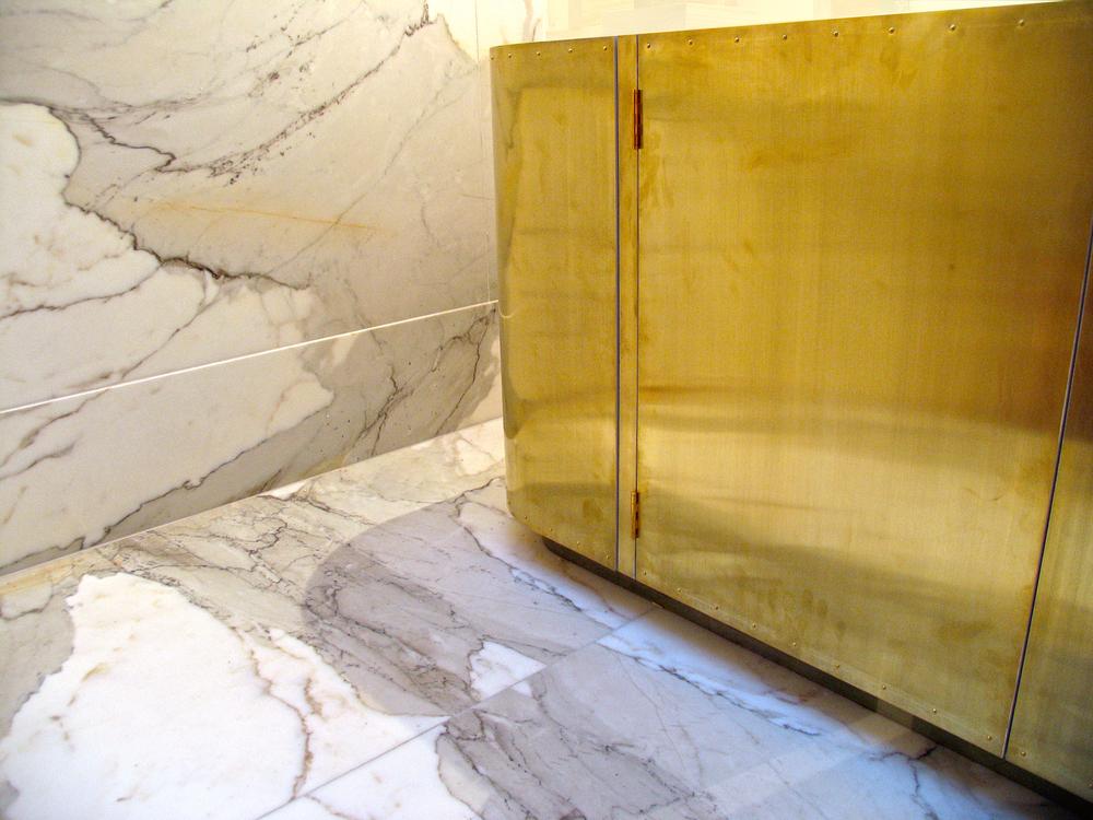 Brass vanity