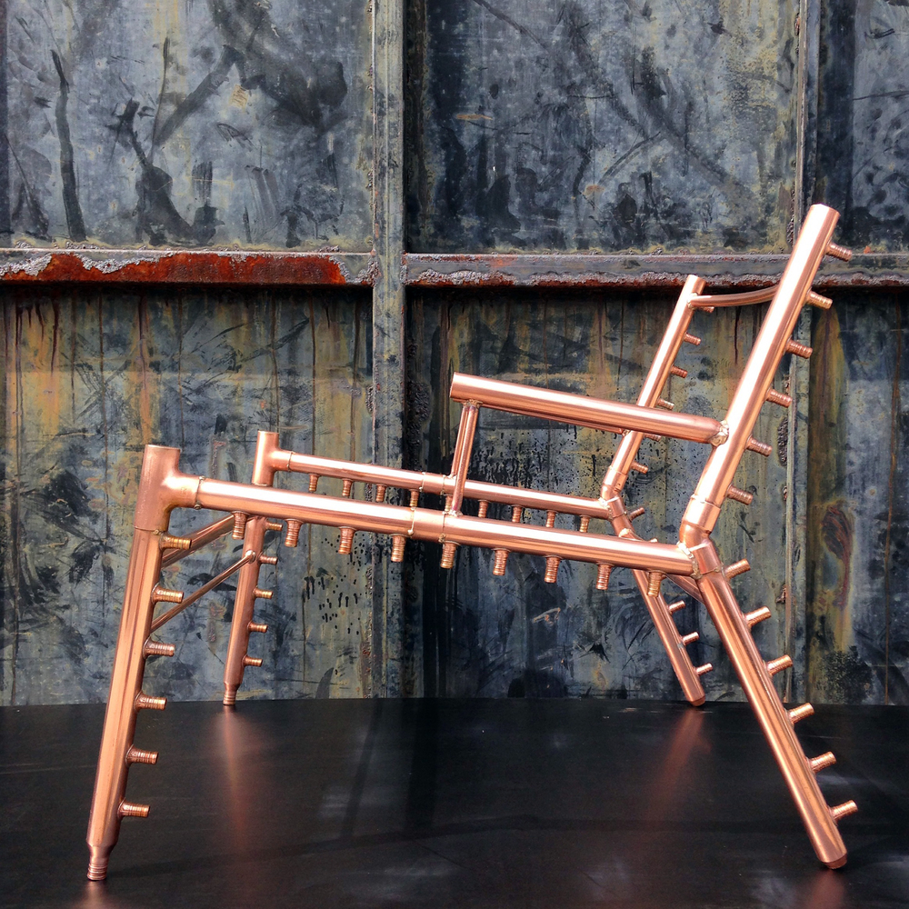 Copper manifold chair