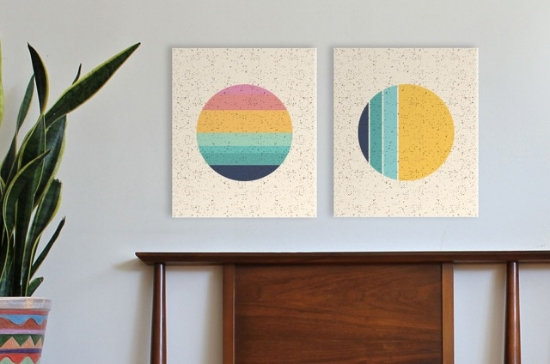 "Seen here: Imogen Sunset 12"" x14""  and Phases 12"" x14""  $76 each Available individually or as a pair here"