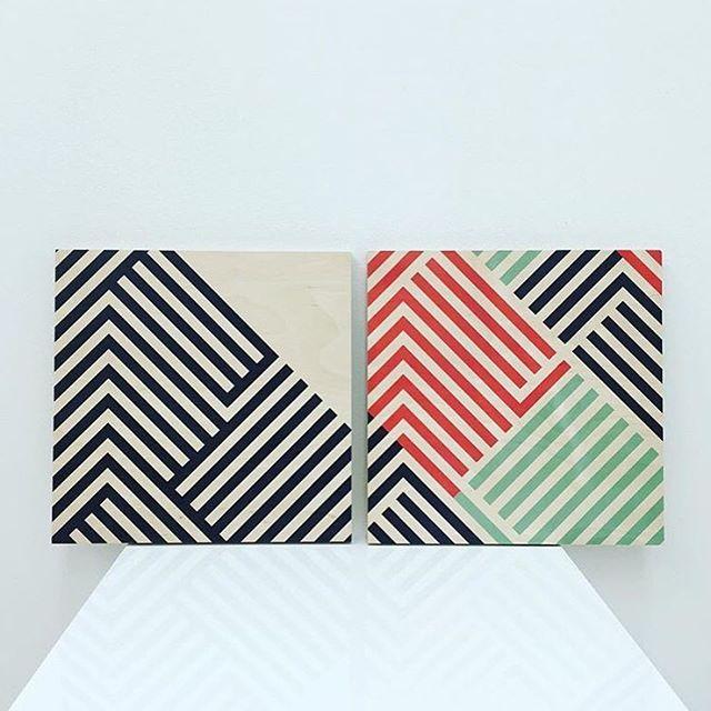 //||//\\|| Get em at Ginger + Bailey 📸: @gingerandbailey . . . . #tramake #patterns #patterned  #colorlove #stripes #wallart #etsy #etsyshop #etsywholesale #dslooking #makermade #makersgonnamake #artdeco #midcentury #wholesale #independentartist