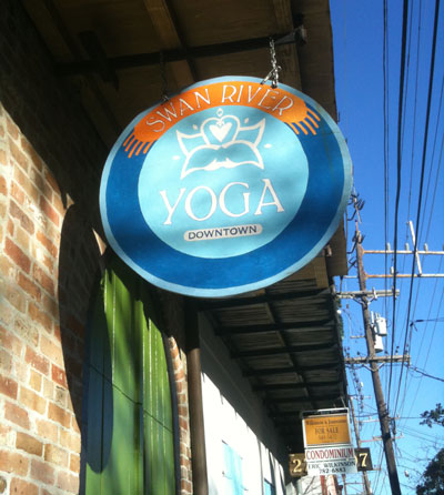 Swan River Yoga on Chartres St in New Orleans
