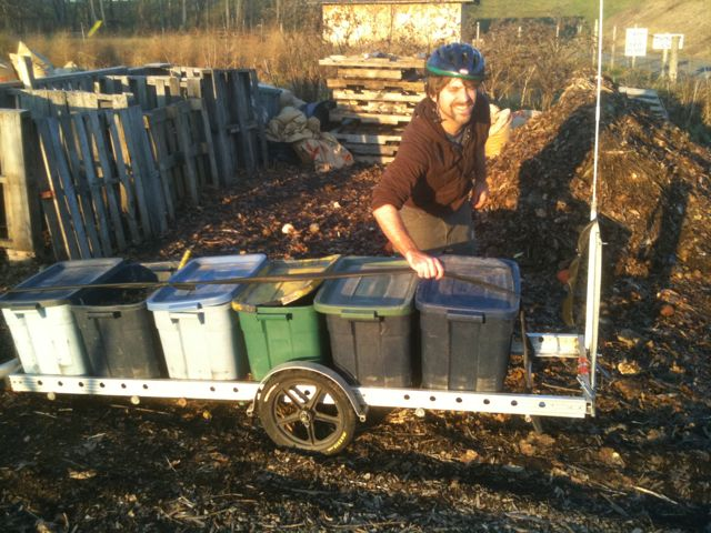 Bringing compost to Montview Farm. Photo by Sarah Peters