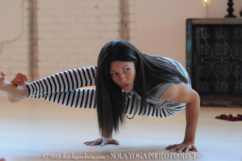 Libby Bryan demonstrates asana