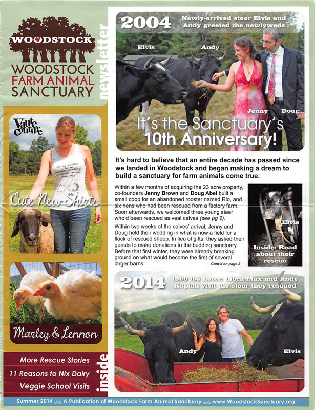 Woodstock Sanctuary 10th Anniversary Newsletter