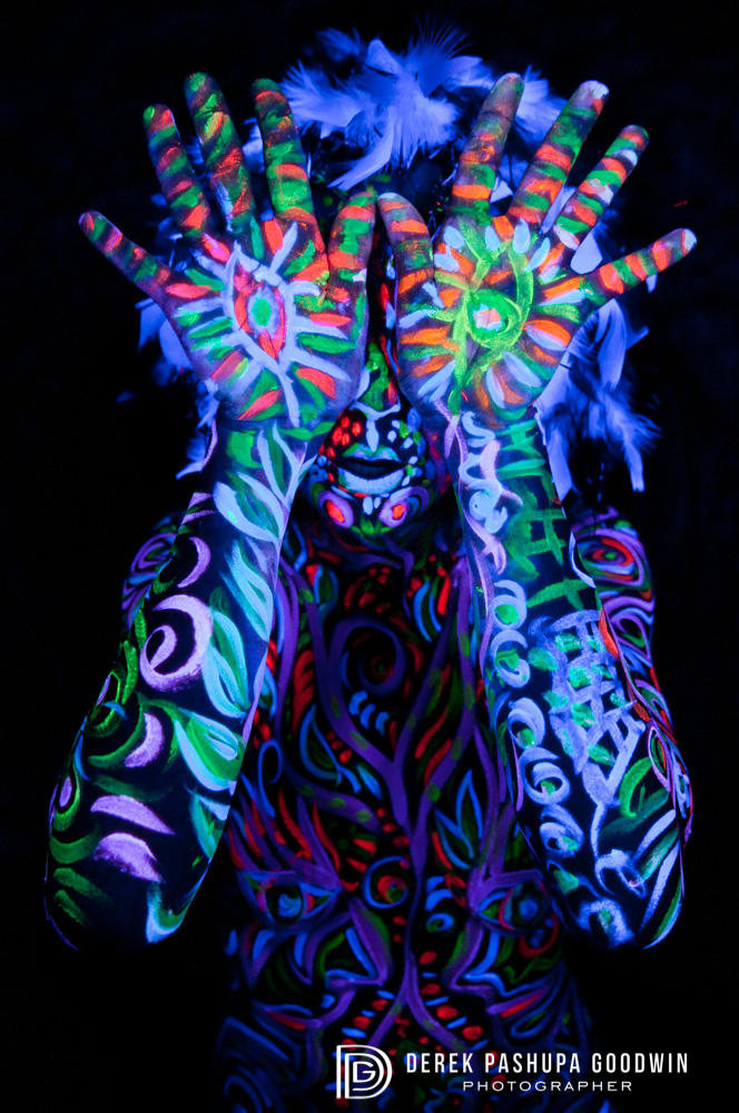 eyes without a face, black light photography