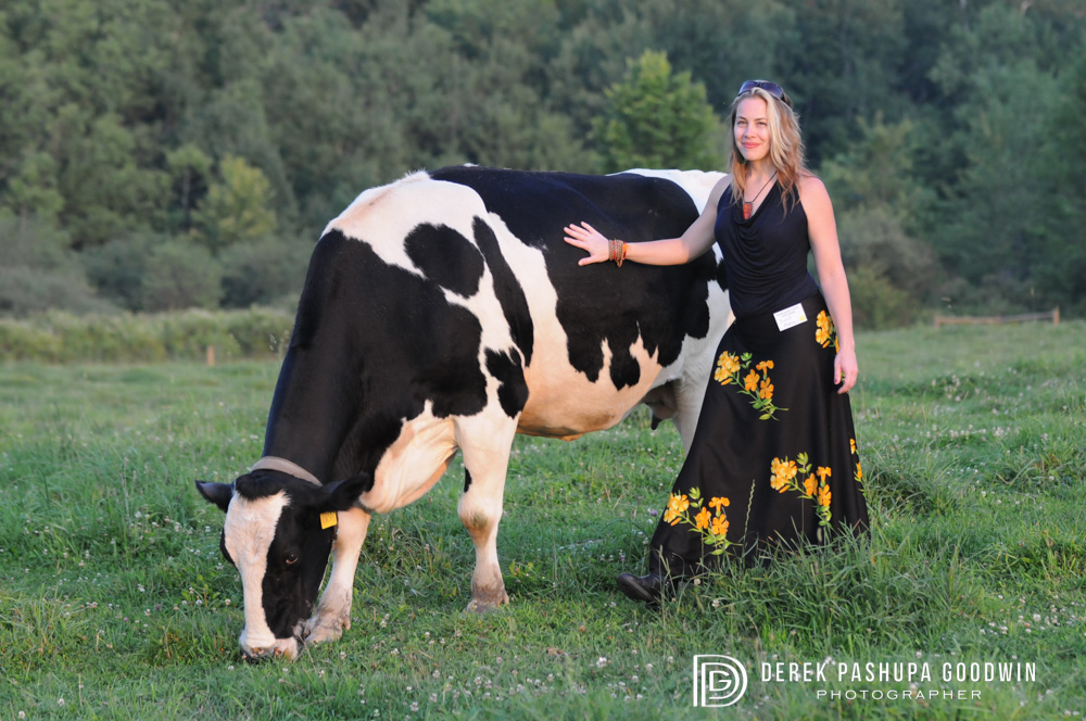 Megan Shackelford with a bovine beauty