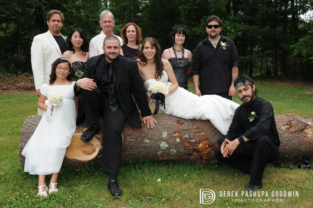 wedding party formal portrait