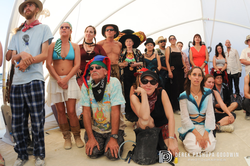burning man wedding guests