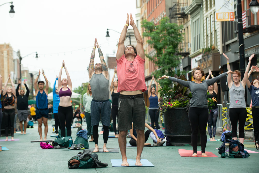 108 Sun Salutations at Yoga Fest Jersey City