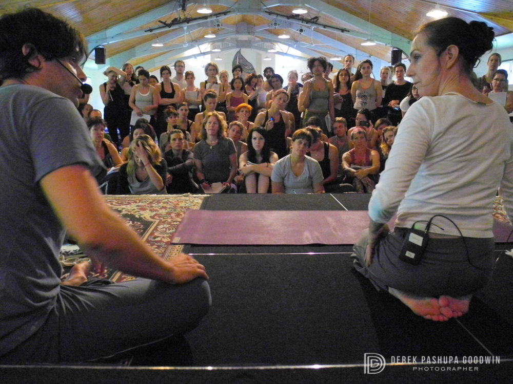 Jeffery Cohen and Sharon Gannon at the Jivamukti Yoga Teacher Training