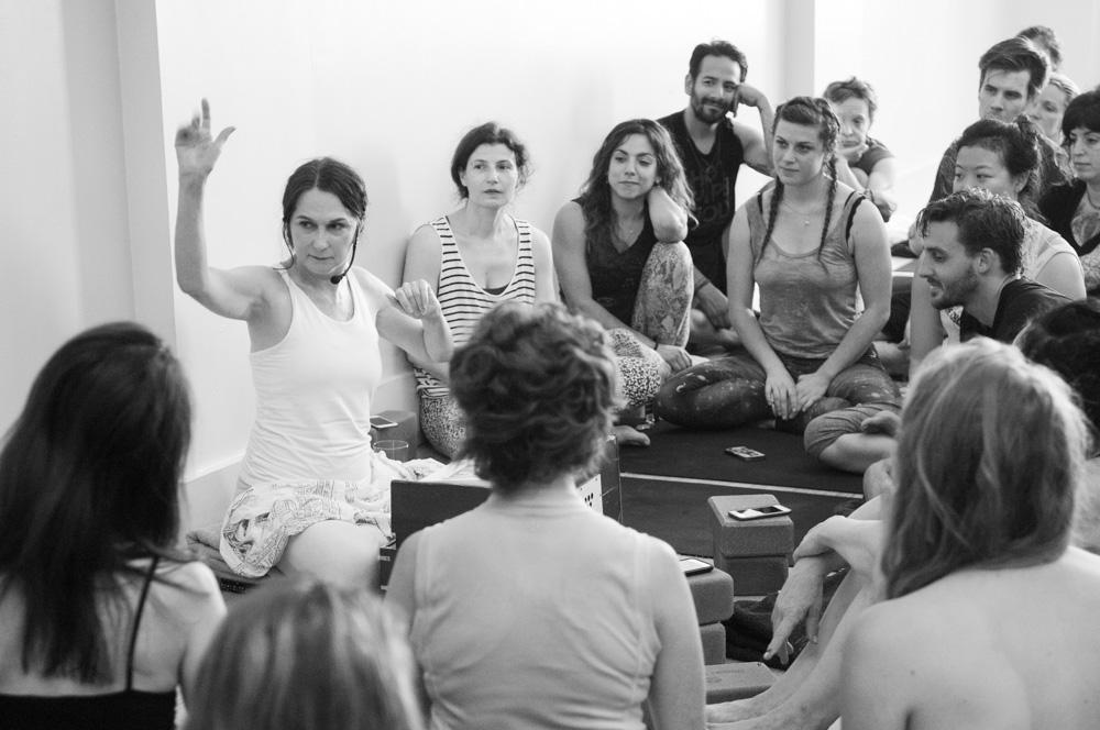 Sharon Gannon teaching the teachers