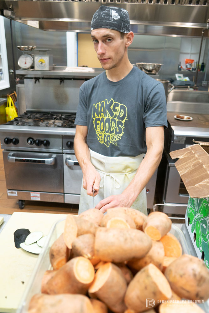 Adam with sweet potatoes