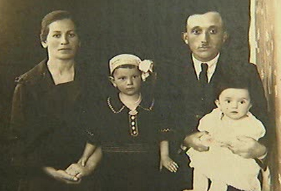 My grandmother's mother, Belya; her sister, Tone; her father, Eli; and other sister, Chaya. My grandmother lost her entire family during the Holocaust.