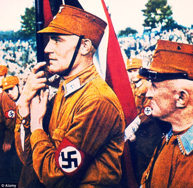 Gestapo uniforms. (Image courtesy of Daily Mail)