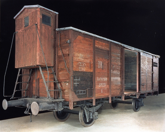 Railcar on display at the Holocaust Museum (Image courtesy of The US Holocaust Museum)