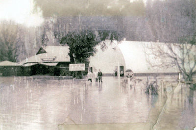Flood of 1955 - Back of the Rio Theater