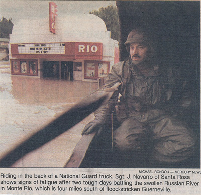 National Guard visits the Flood of 1995