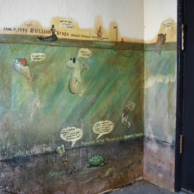 Recording Russian River flood history: Murals by Arthur Longoria