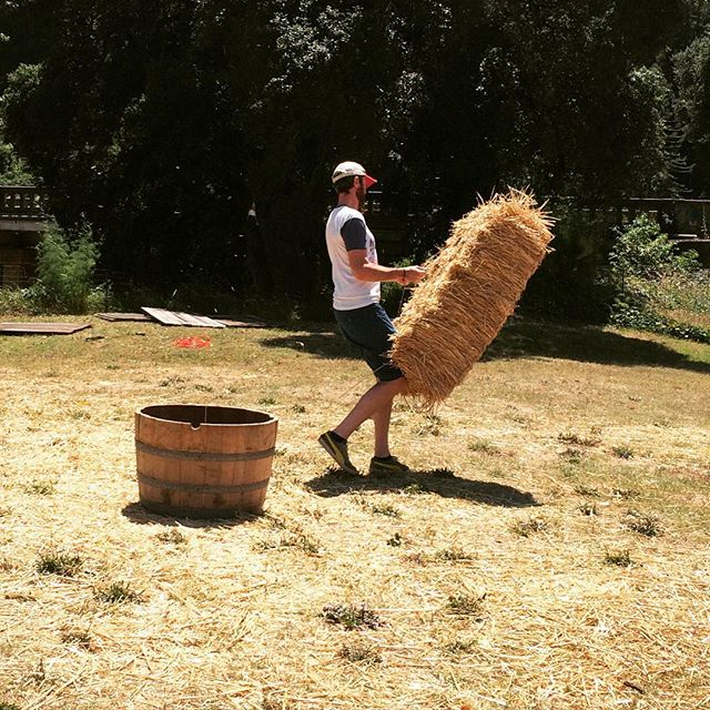 Haybaling with Frank Standard. Special thanks to Western Farm Center for being such a pleasure I work with. If you need hay bales, check them out - the best customer service. #foodandfarmfilmfest