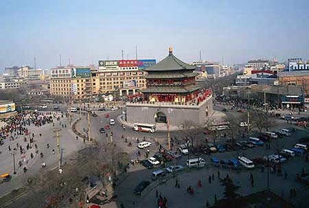 the center of Xi'an city