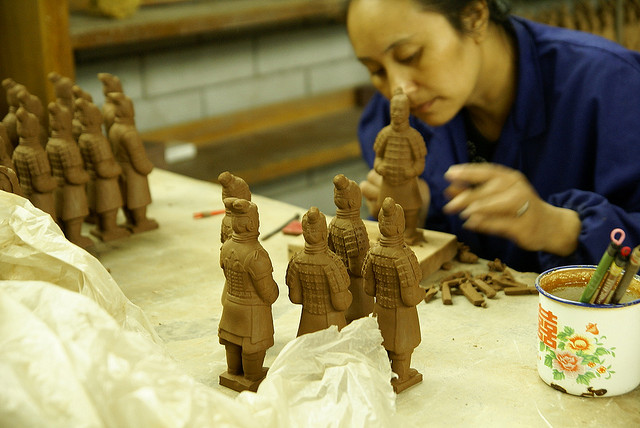 Xi'an craft worker -  Terra-cotta Warriors