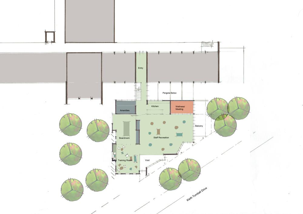 Upper Floor Plan - Concept Sketch