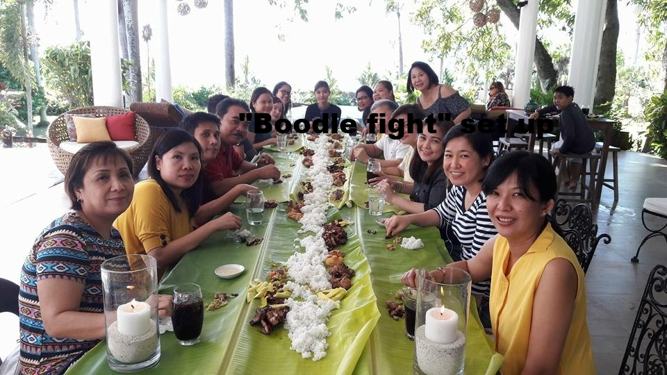 "we can set up a ""boodle fight"" at your request"