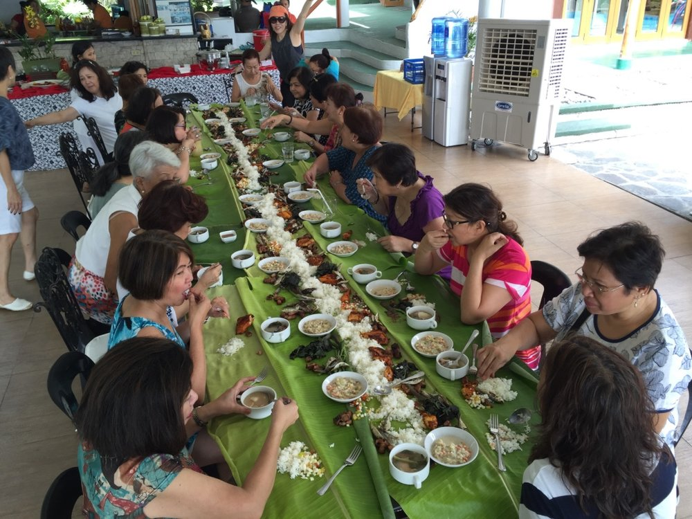 boodle fight with college classmates......