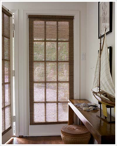 Faux grass roller shades