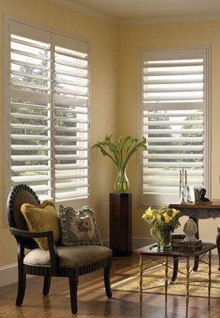 Custom plantation shutters available at Mix Montclair