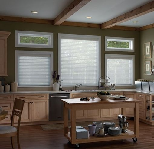 Sheer shades provide light filtering qualities with beauty and privacy.