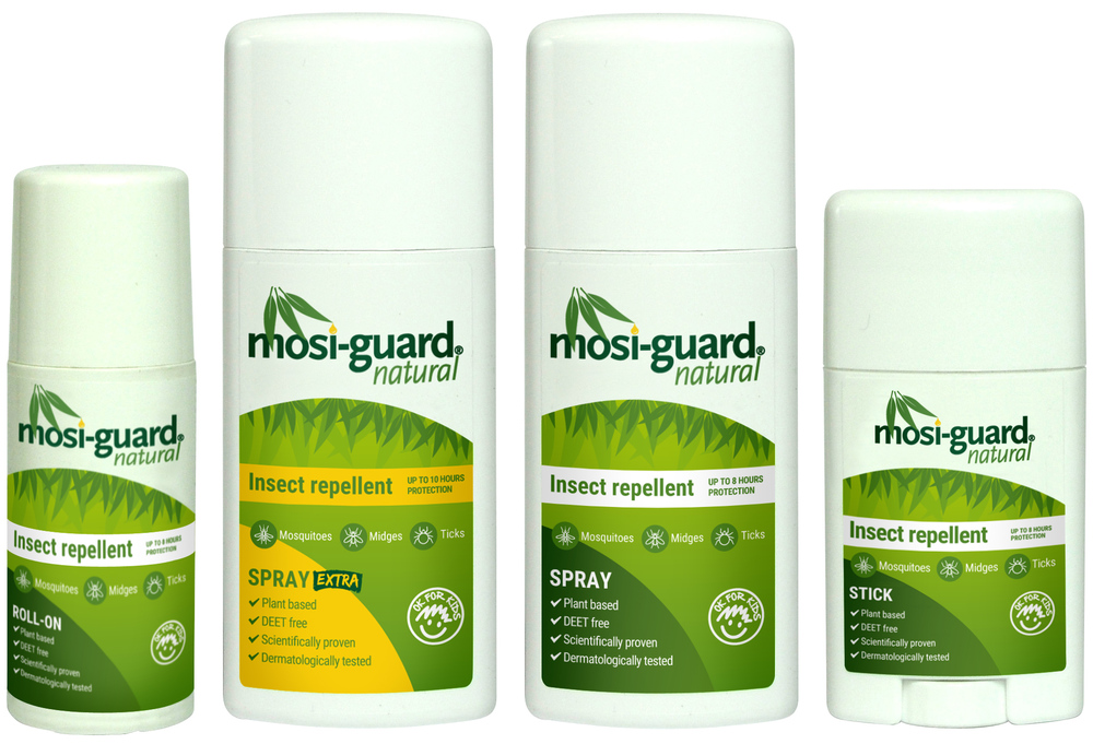 The Mosi-guard Natural Insect Repellent range