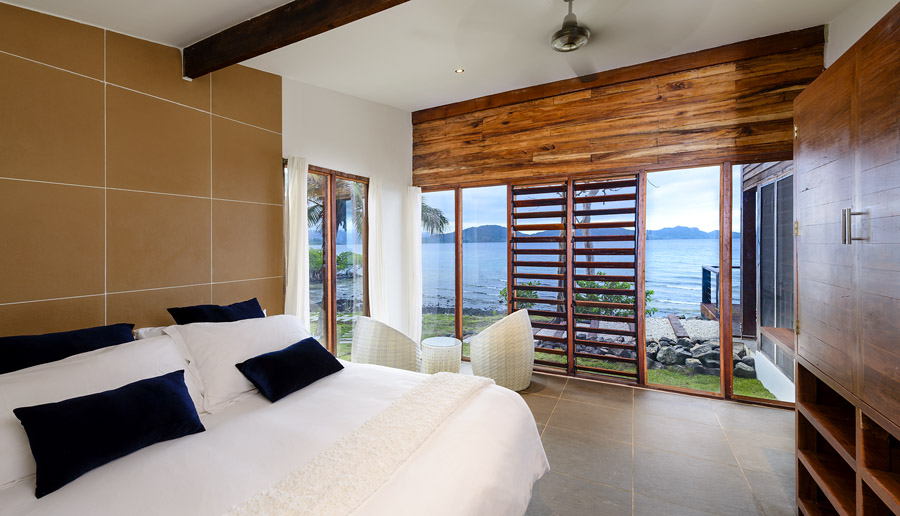 Remote Resort Fiji Islands - Two-bedroom oceanfront pool villa - master bedroom