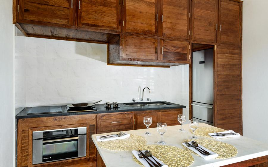 Remote Resort Fiji Islands - Two-bedroom oceanfront pool villa kitchen