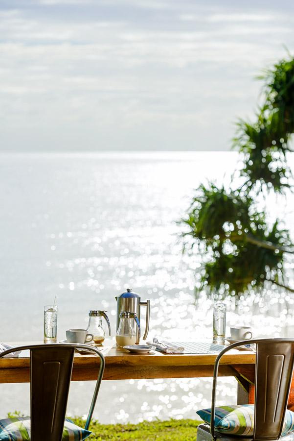 Remote Resort Fiji Islands - Breakfast bar views