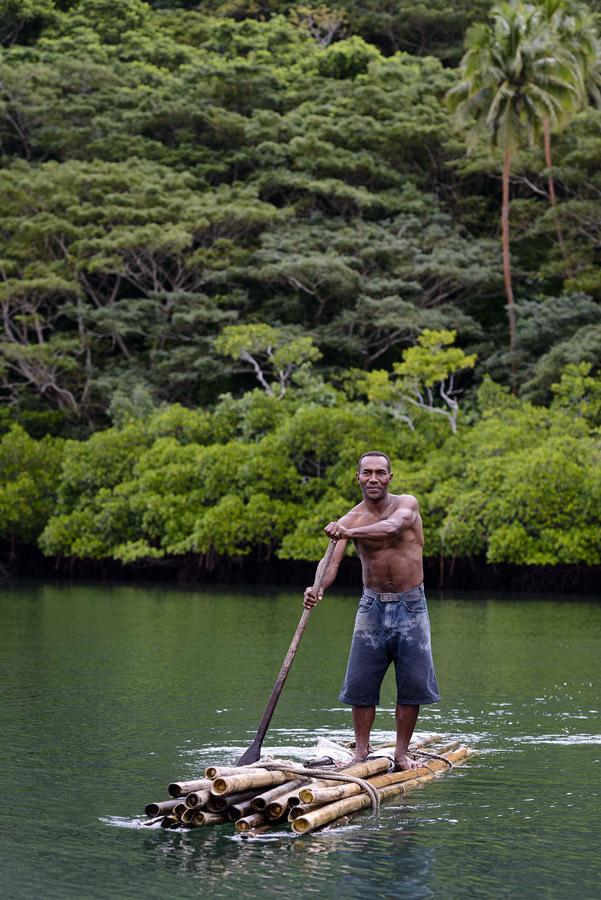 Remote Resort Fiji Islands - Bamboo Rafting