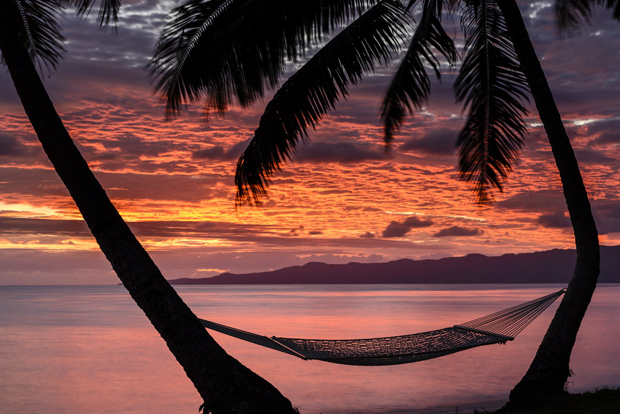 Remote Resort Fiji Islands - the first sunrise in the New Year