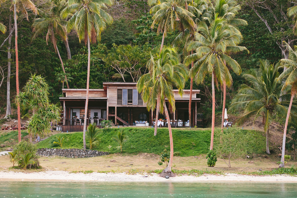 Main Pavilion from the water - The Remote Resort, Fiji Islands