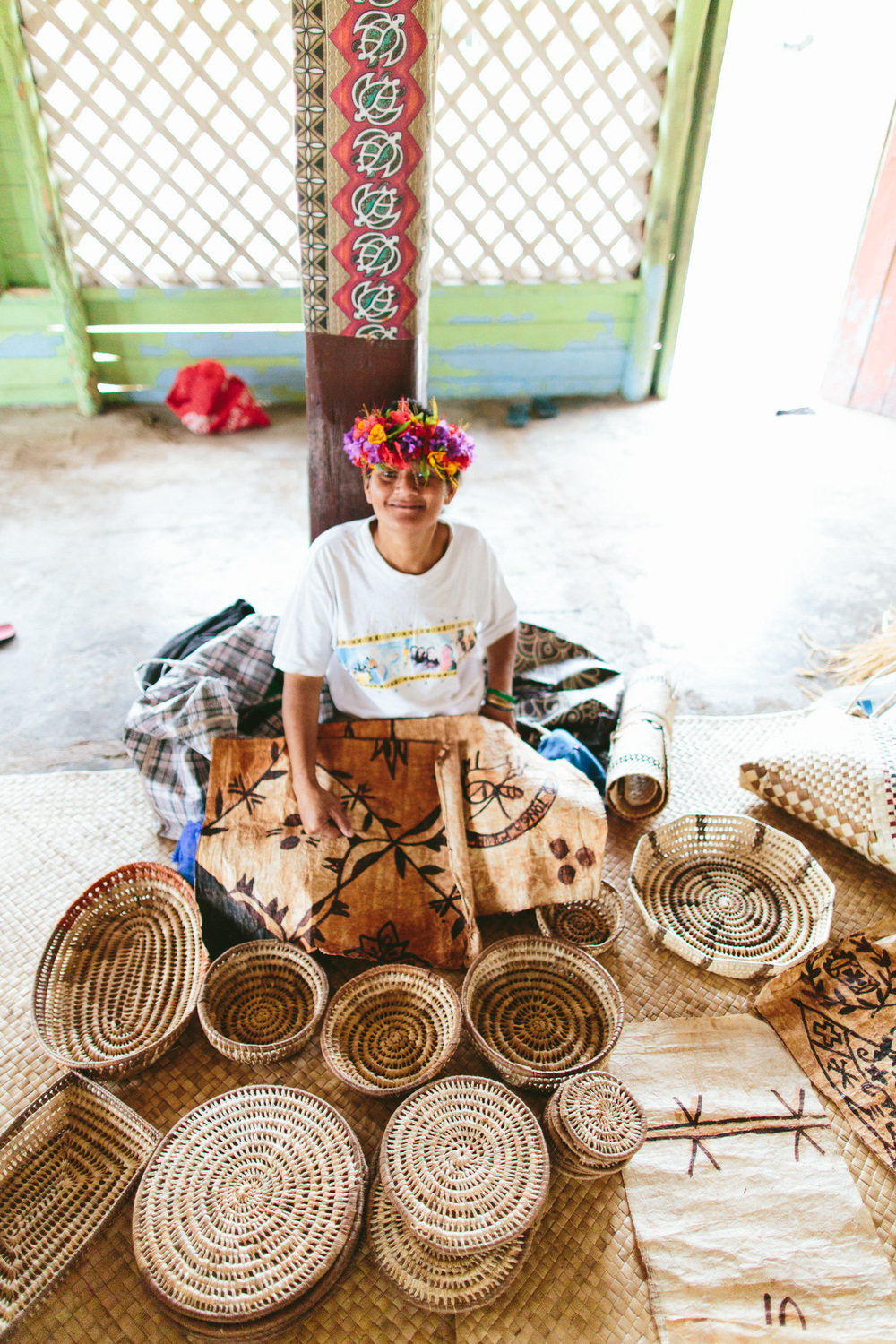 Local woven handicraft for sale at the village - The Remote Resort Fiji Islands