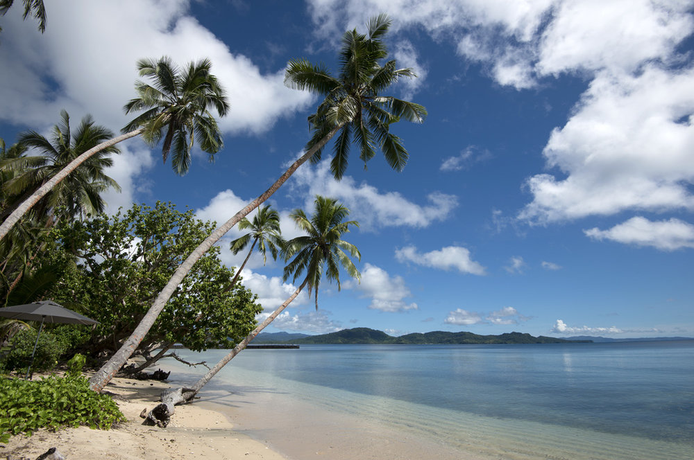 The main beach at The Remote Resort, Fiji Islands