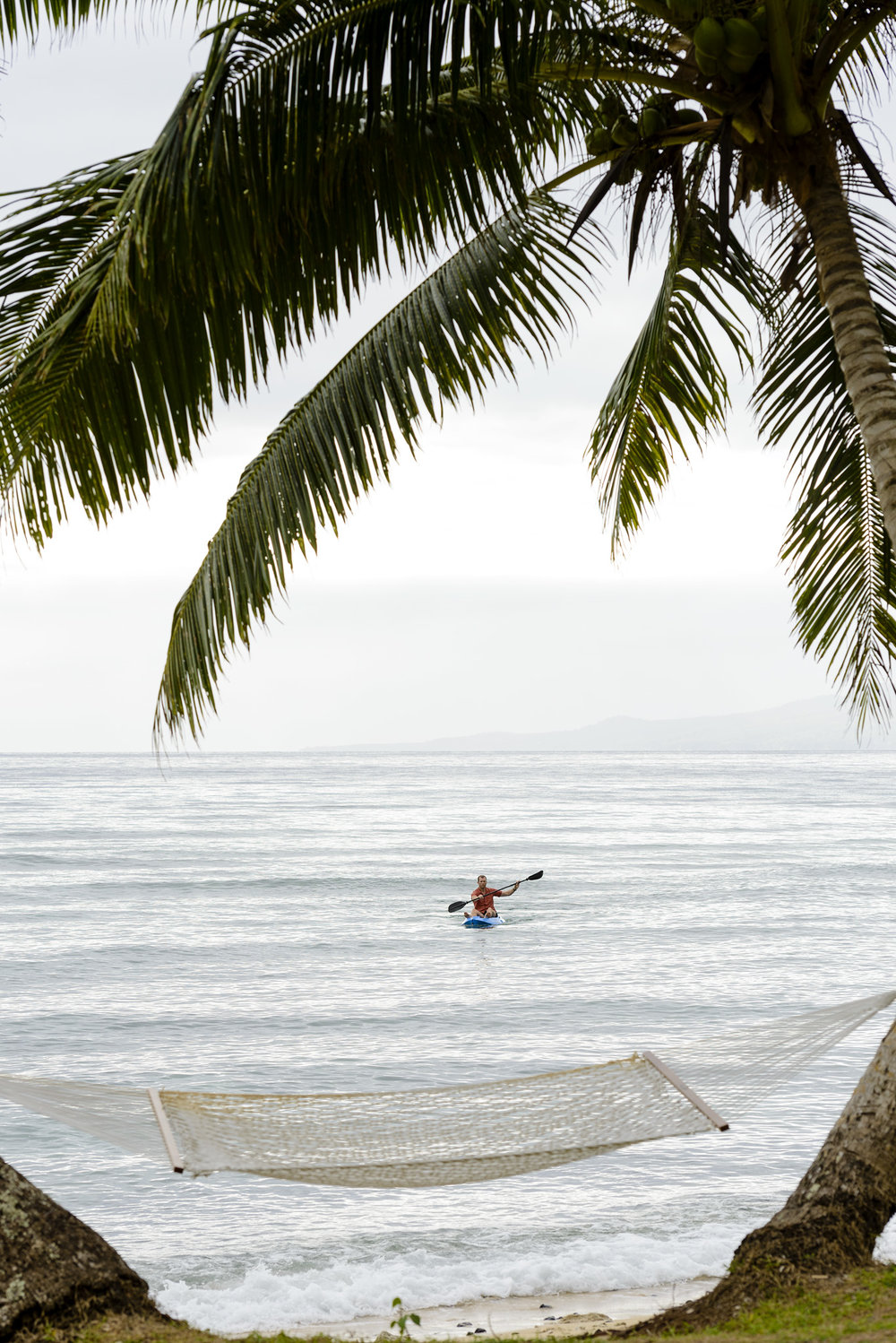 Kayak and Hammock - The Remote Resort Fiji Islands - Boutique Luxury Fiji Resort