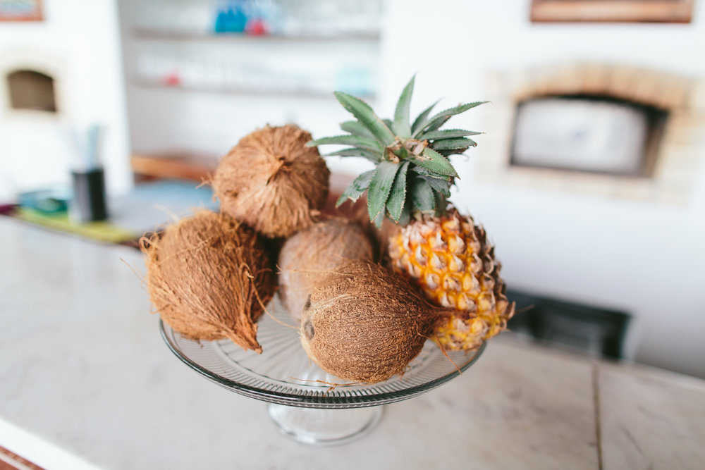 Dining at The Remote Resort Fiji Islands Coconuts and Pineapples.jpg